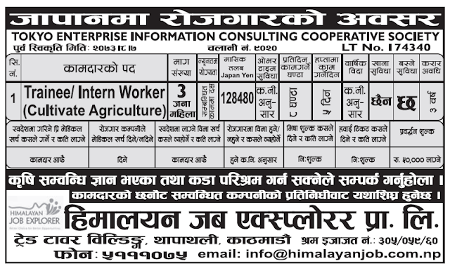Jobs For Nepali In Czech Republic And Japan, Salary -Rs 1,32,799
