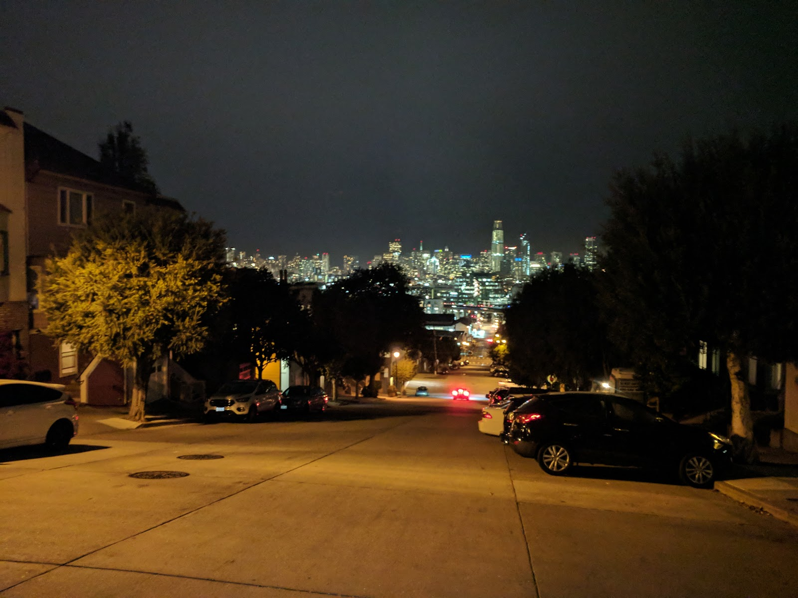 View downtown, from near our apartment