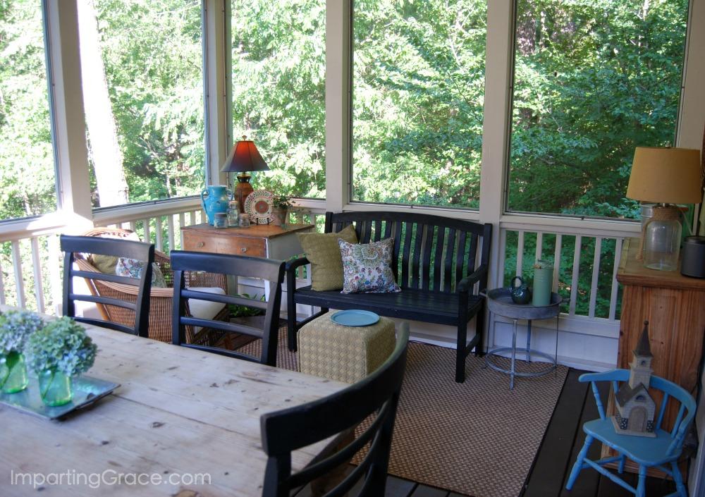 Imparting Grace Screened Porch Updates