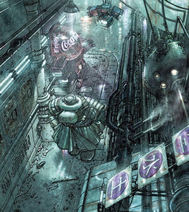 Cómic cyberpunk de Richard Moritat