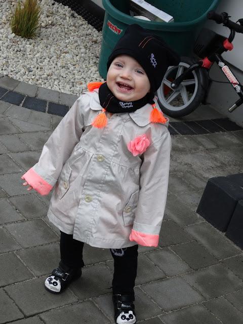 wiosenny komplet czapka i chustka dla dziewczynki 6