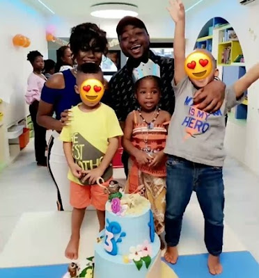Photos: Dr Sid And Davido Celebrate Their Daughters' 3rd Birthday In School