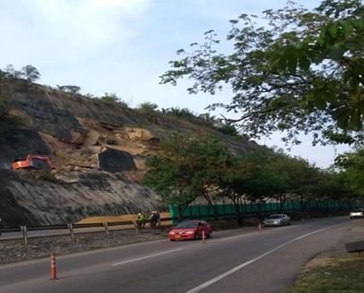 Por estabilización de talud, se presentará cierre de 800m de la calzada Bogotá-Girardot, en el sect