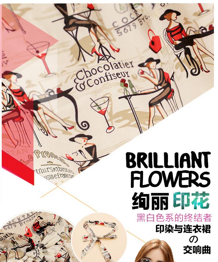 a156b1d63b97 2015 summer new Korean Women round neck waist dress flappers printing  japanese street fashion japanese fashion magazine japan store korean style  chinese ...