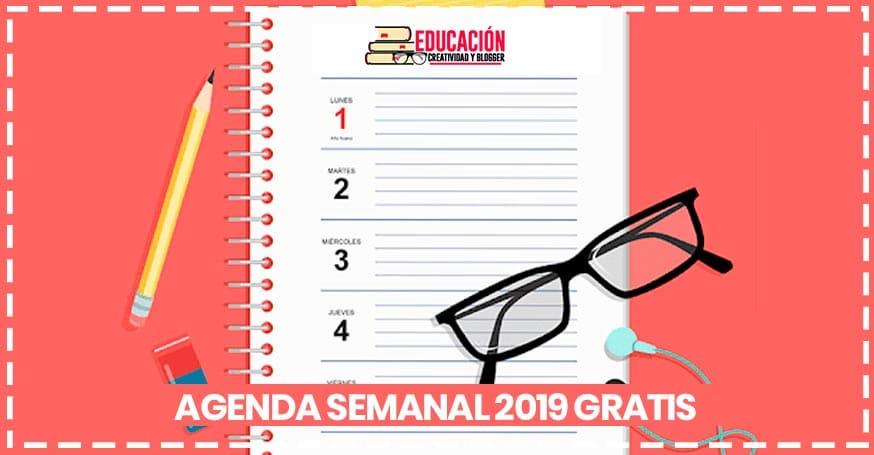 Descarga tu Agenda semanal 2019 para imprimir gratis