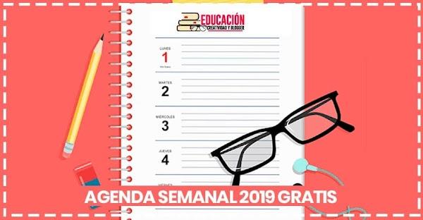▷ Agenda semanal 2019 para imprimir 【GRATIS】