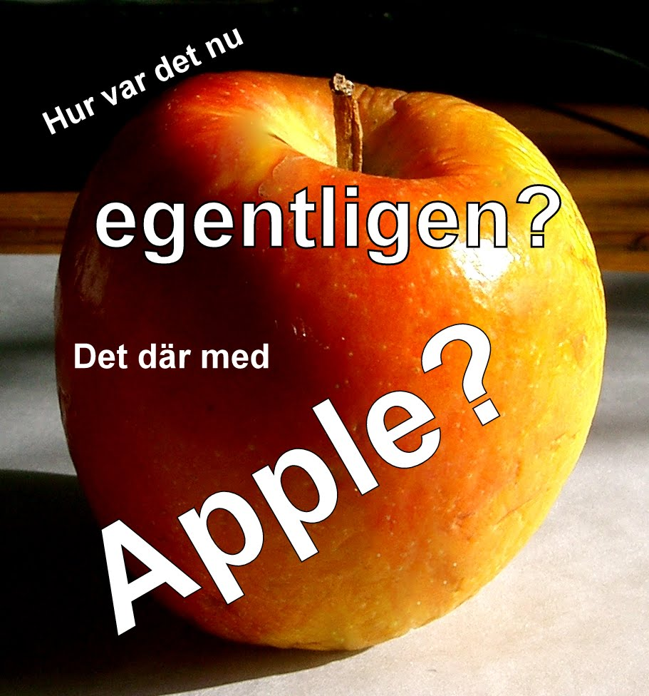 Apple = datorer? Jamen, Apple var väl Beatles?