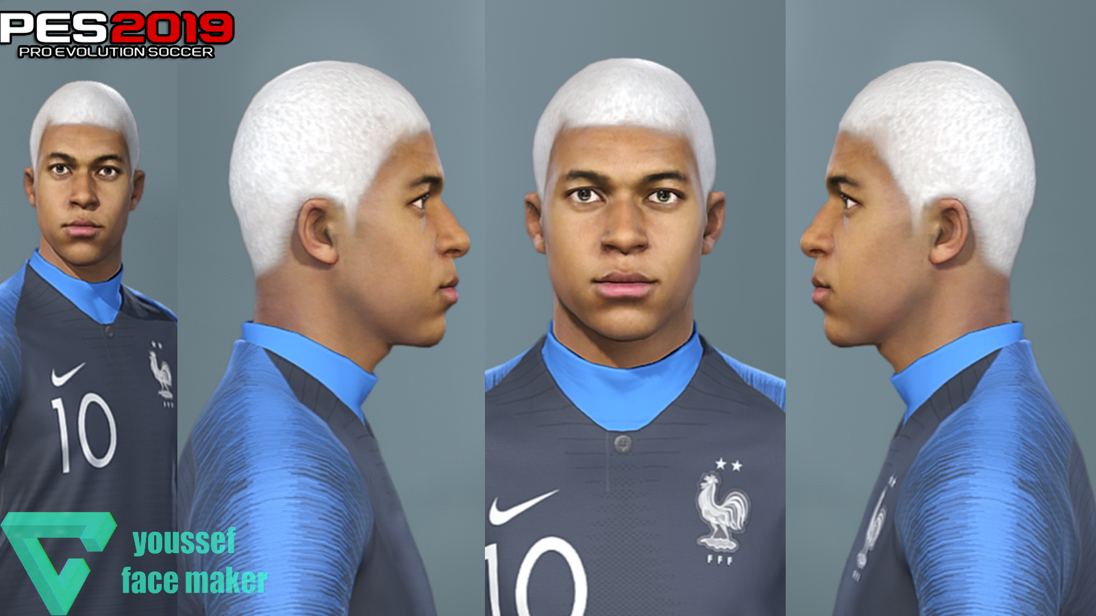 Kylian Mbappé | New Hair | PES2019 | PC | By Youssef | Pes Free
