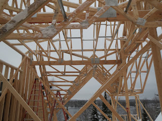 custom lake home roof trusses, huisman, ely mn