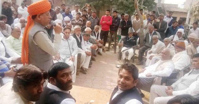 Villagers welcome Rajesh Nagar, BJP leader in Alipurpur Tillori