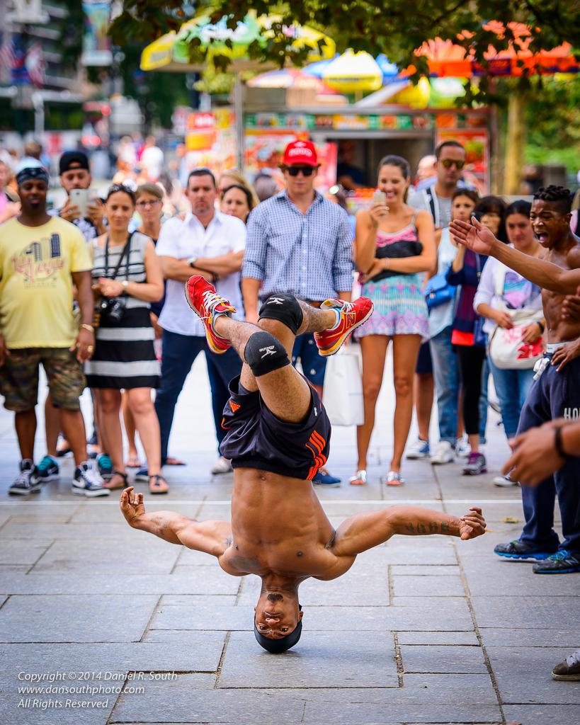 street photography acrobat performance new york city