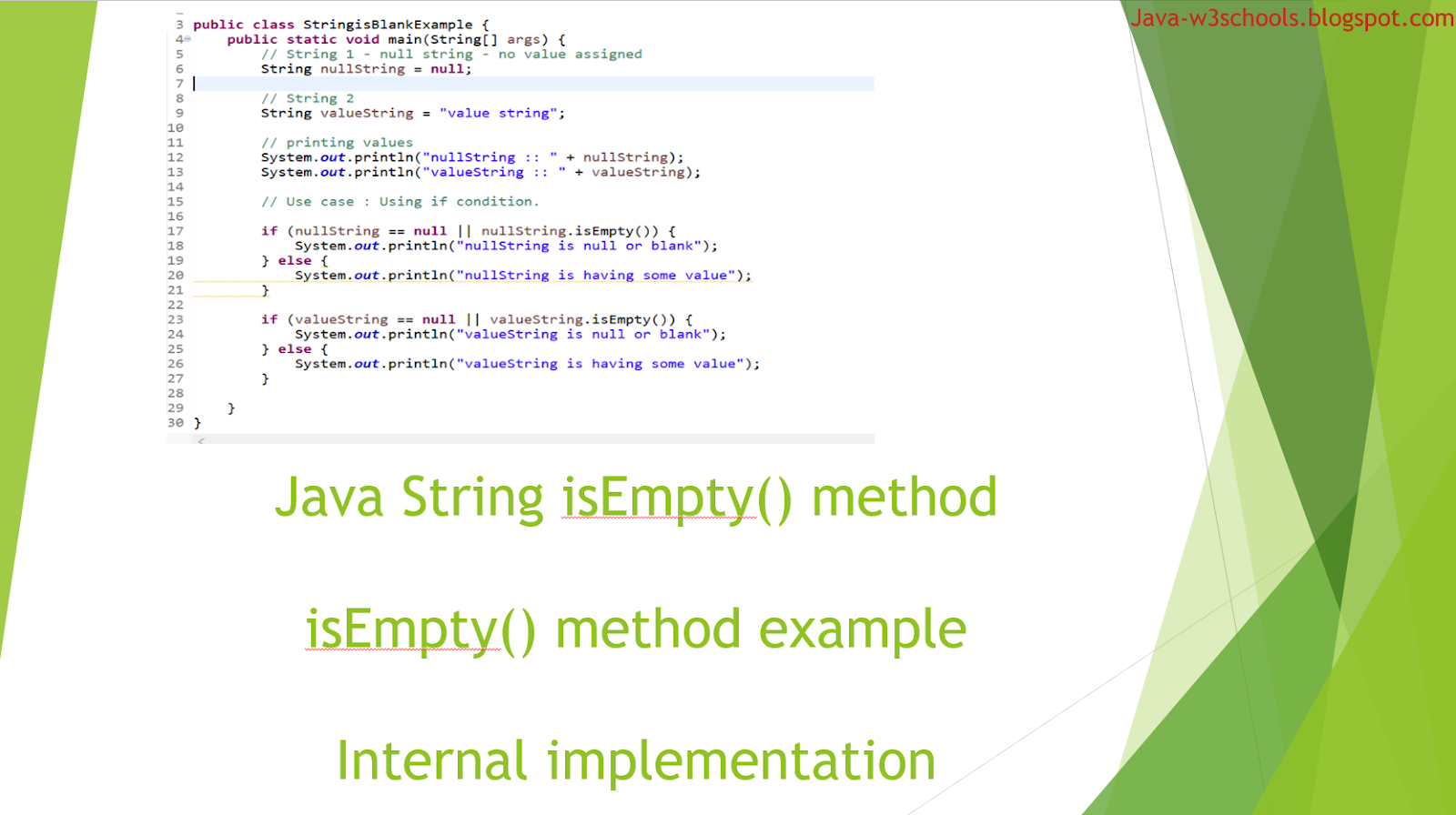 Out Java From String Isempty Method In Java With Example Internal