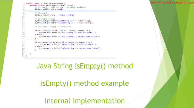 String isEmpty method in java