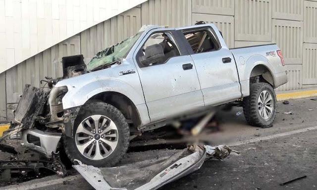 Fotografias; Balacera y persecución en Reynosa; sicarios terminan chocando con saldo de 5 muertos