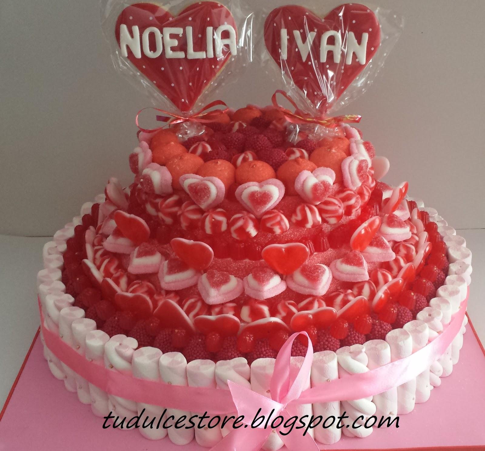 Tu dulce store tarta de chuches romantica y brochetas - Tartas de chuches fotos ...
