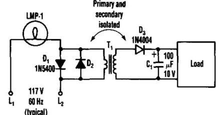 subwoffer wiring diagram: Simple Ac To Dc Converter