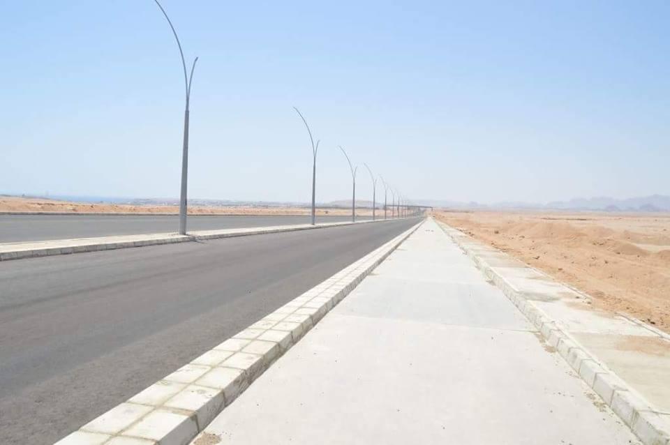المقاولون العرب على مشارف انهاء تنفيذ المرحلة الاولى من طريق ابن سينا بشرم الشيخ