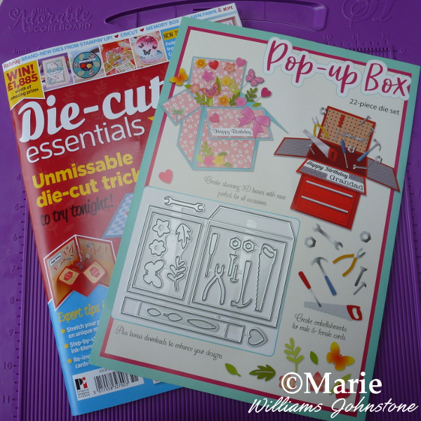 Die Cutting Essentials magazine issue 51 with free pop up box card mini dies set card making crafts