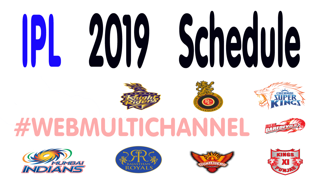 ipl 2019 schedule pdf download player list