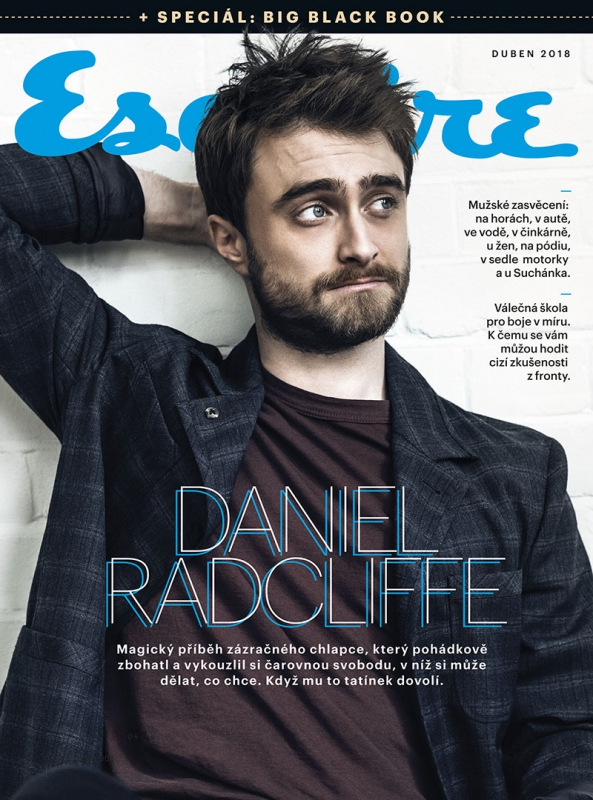 Daniel Radcliffe para Esquire República Checa Abril 2018