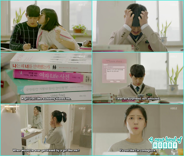 jik couldn't concentrate on studying because of Ha Roo thoughts - Uncontrollably Fond - Episode 15 Review