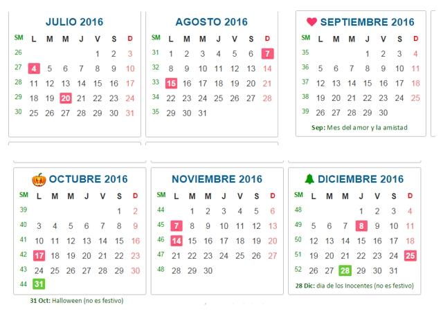 Almanaque Bristol Calendar Colombia