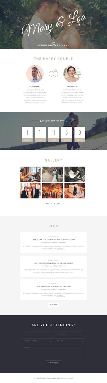 Premium Wordpress Wedding Theme