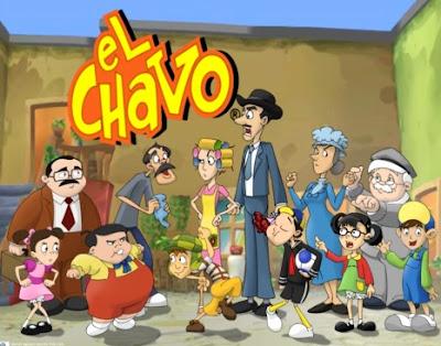 Dibujo del Chavo del Ocho en dibujos animados a colores
