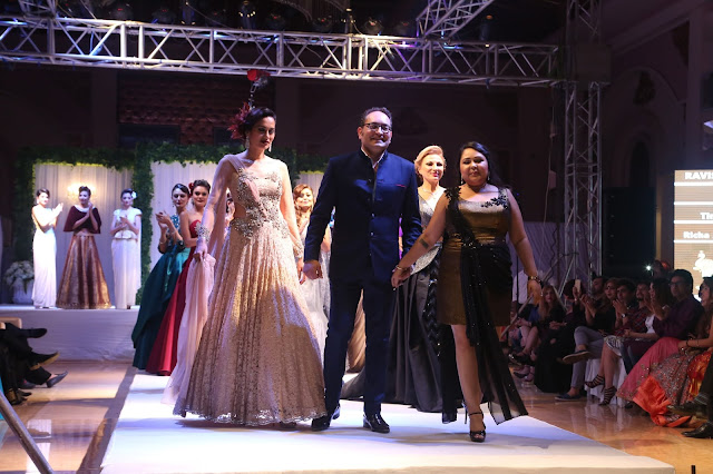 "International fashion designer duo Rashita Sehra and Amar Sehra, presented their exclusive wedding cocktail collection ""Celestial Aura"" in the presence of Bollywood actor Chitrangda Singh"
