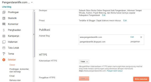 Mengaktifkan HTTPS Untuk Custom Domain di Blogger