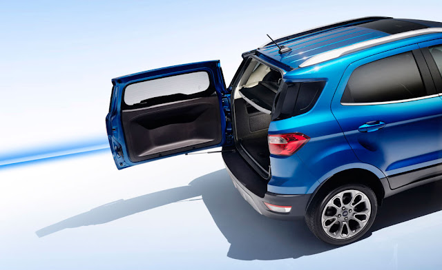 2018 Ford EcoSport swing-away door - Subcompact Culture