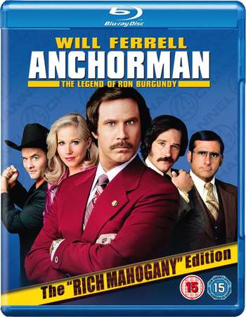 Poster Of Anchorman 2004 Dual Audio 300MB BRRip 576p - Unrated Free Download Watch Online