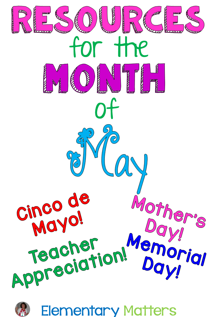 Cinco de Mayo, Mother's Day, Teacher appreciation, Memorial Day