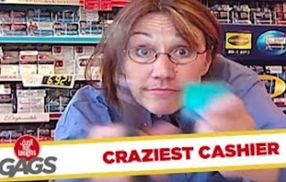 Funny Video – Crazy Cashier Tears Credit Card Apart