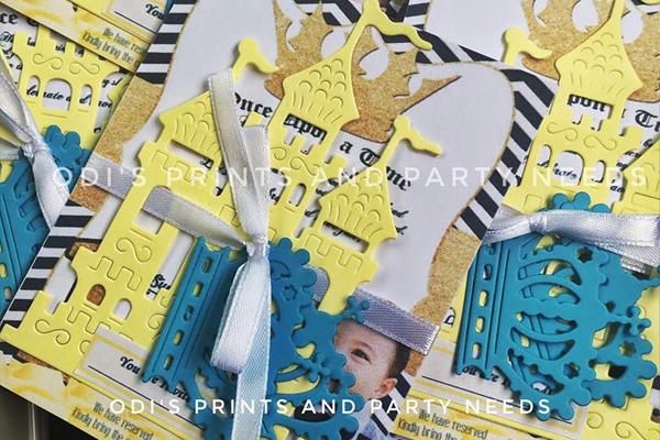 Odi's Prints and Party needs - Bacolod party needs - die cut invitation