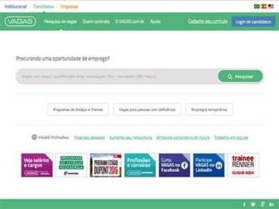 Site de vagas de emprego Vagas.com.br