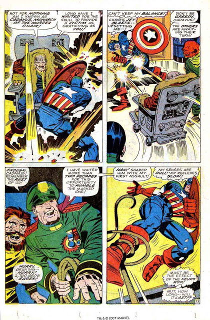 Captain America v1 #104 marvel comic book page art by Jack Kirby