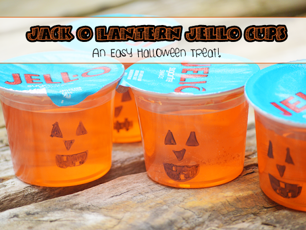 Jack O Lantern Jell-O Cups {An Easy Hallowen Treat}