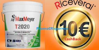 Logo MaxMeyer e ''La pittura che ti ripaga'' : operazione cashback