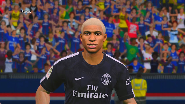 ultigamerz: PES 2017 Mbappe Face White Hair