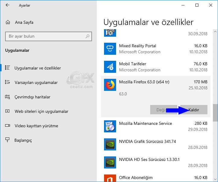 Uygulamalar ve özellikler-www.ceofix.com