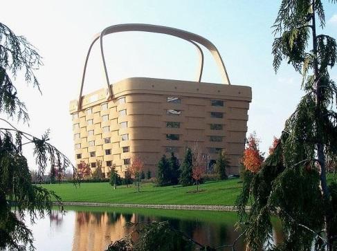 Bangunan unik lucu bentuk keranjang