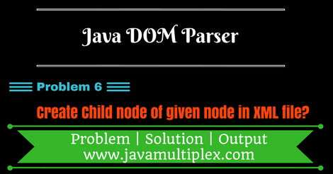 Create child node of given node in XML file using DOM Parser?