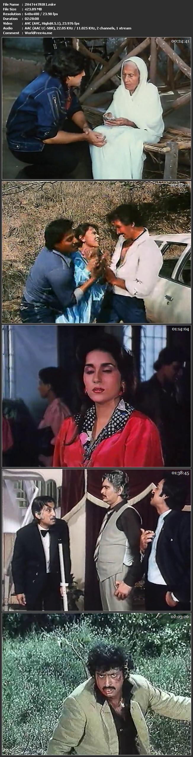 Screen Shot Of Halaal Ki Kamai 1988 300MB DVDRip 480P Full Hindi Movie Watch Online Free Download