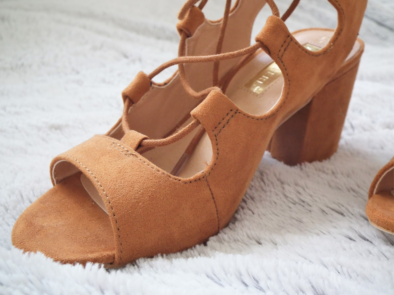 Primark Haul - Spring 2016 laceup tanned heals