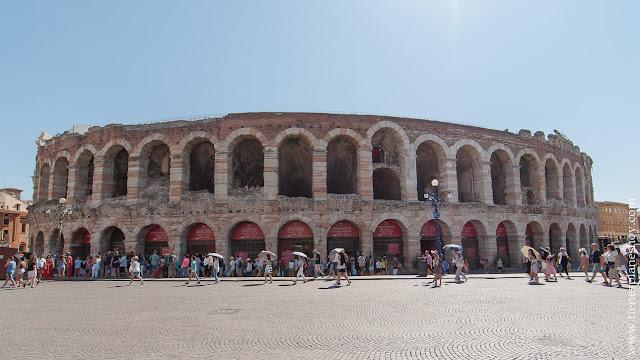 Verona La Arena anfiteatro romano Italia visitar viaje