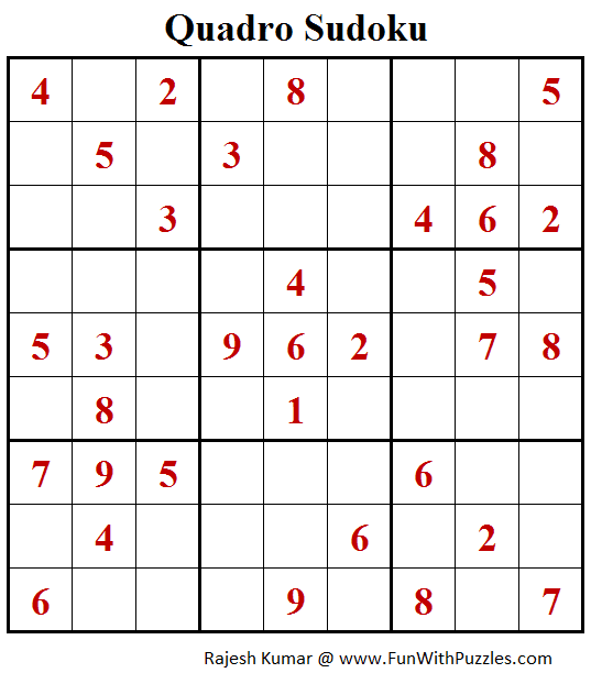 Quadro Sudoku Puzzles (Fun With Sudoku #396)