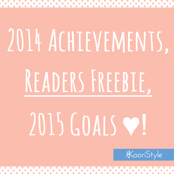 Koori KooriStyle Kawaii Cute Tutorial Goals Wishes Achievements 2014 2015 Freebie Subscribers