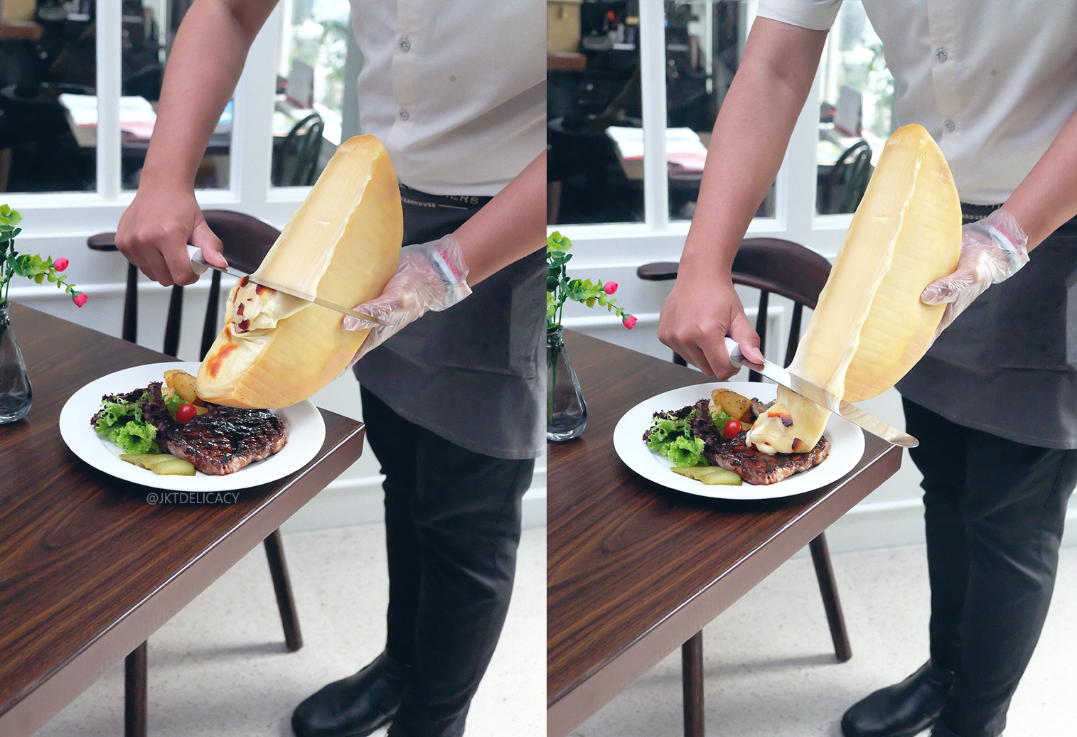 how to cook steak on a raclette