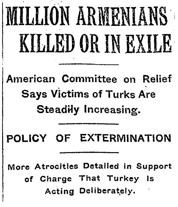 Persuasive Essay on the Armenian Genocide